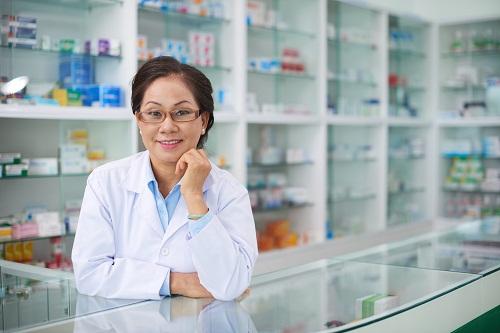 une blouse de pharmacie